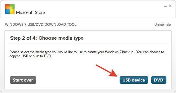 установочная флешка Windows 7 USB DVD Download Tool