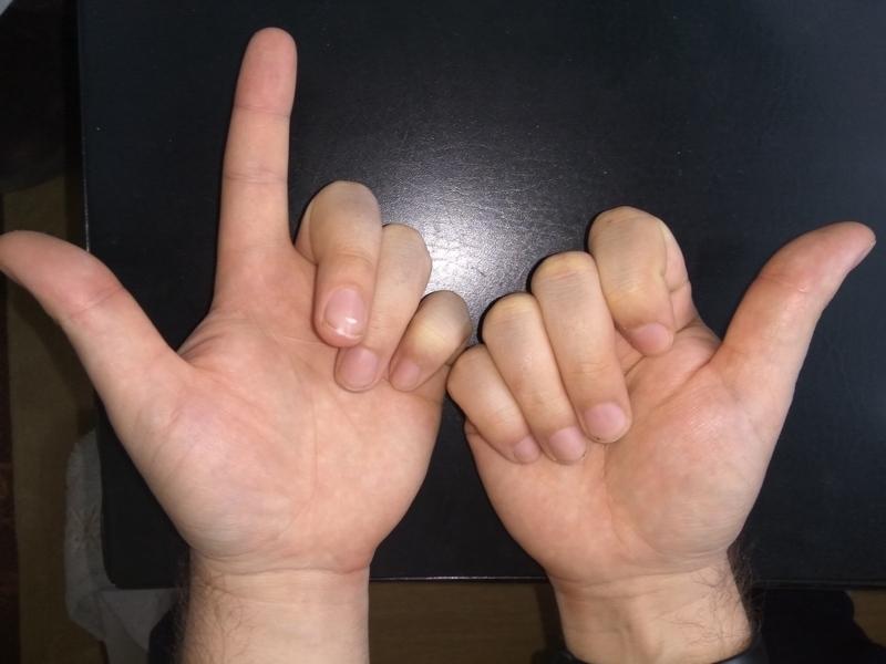 Как умножать на пальцах 8 на 9