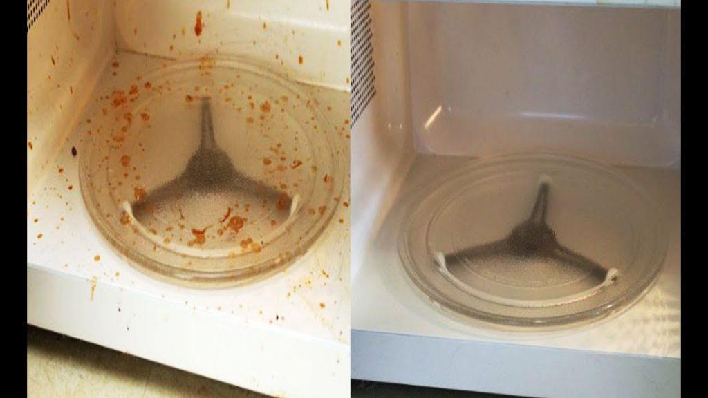 Как отмыть микроволновку от жира внутри быстро с уксусом